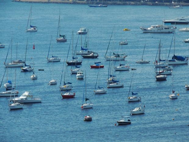 Vista da praia de Botafogo