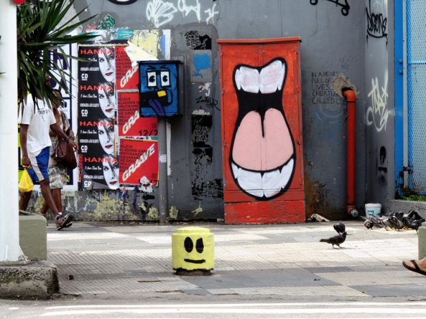 Street Art próximas à Estação Botafogo do Metrô.