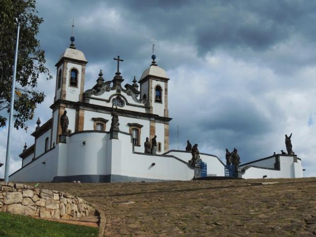 Basílica de Bom Jesus dos Matosinhos - Vista lateral.