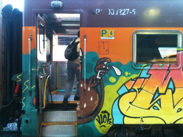 Grafite no vagão