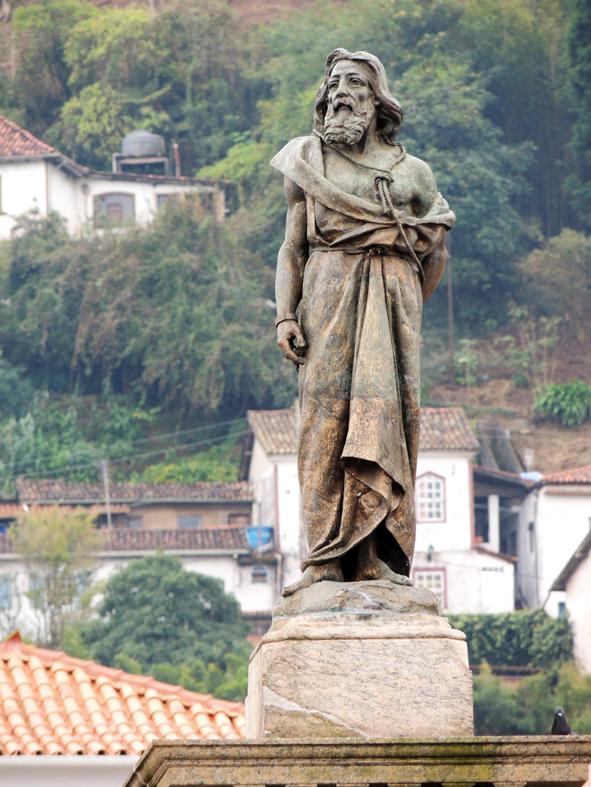 Estátua de Tiradentes, em Ouro Preto, Minas Gerais.