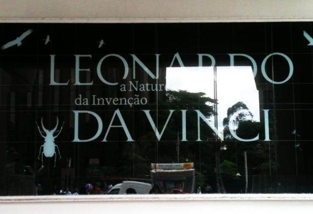 Entrada da Exposição Da Vinci.