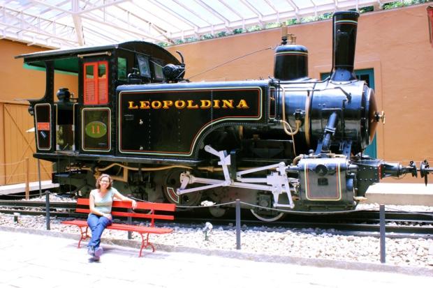 Locomotiva nº 11 no Pátio Interno (Pavilhão das Viaturas) - 1982