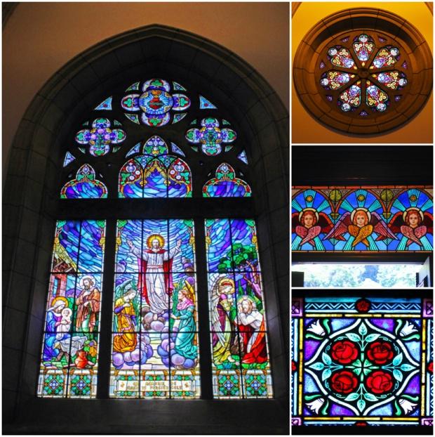 Estes são apenas alguns dos vitrais da Catedral.