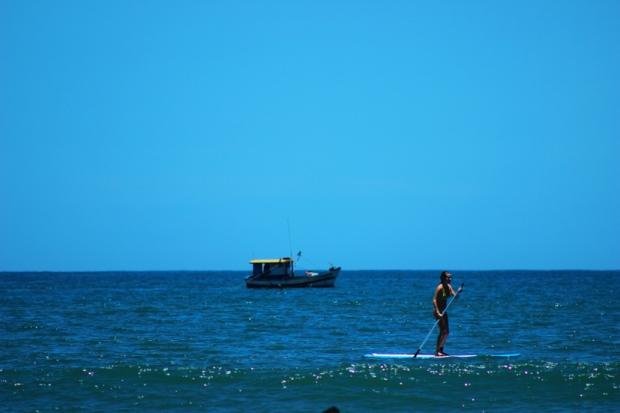 Vista do mar na Praia das Toninhas