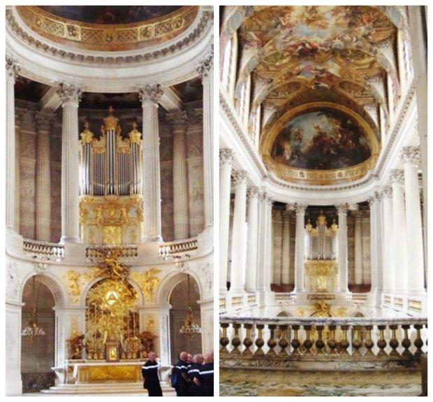 Capela Real, dentro do Palácio. As fotos parecem tortas juntas, mas separadas estão retas.