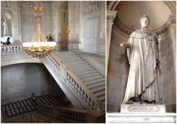Muitas escadas. E o Napoleão.