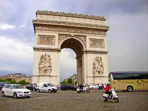Arco do Triunfo, acho que é a parte de trás dele.