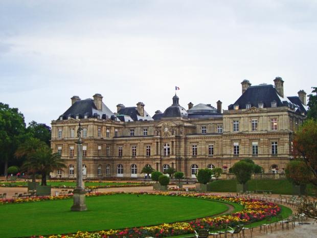 Jardim de Luxemburgo um pouco antes da chuva