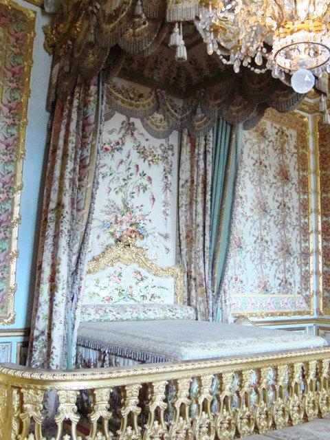 Quarto da rainha. A maior cama que vi no Palácio todo.