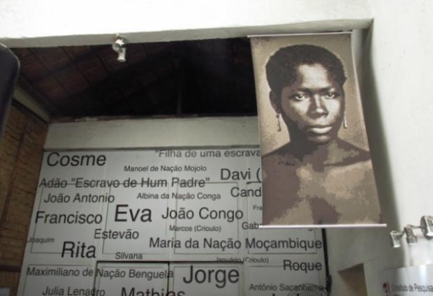 """Nomes dos escravos """"enterrados"""" no cemitério dos Pretos Novos."""