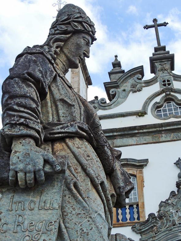 Profeta Daniel, esculpido por Mestre Aleijadinho, em Congonhas do Campo, Minas Gerais.