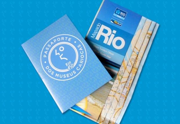 O passaporte e o mapa do Rio, pra saber onde cada museu fica. Imagem: Sanduíche Visual.