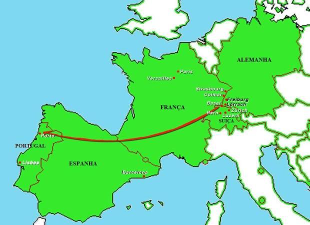 Mapa do fim da viagem