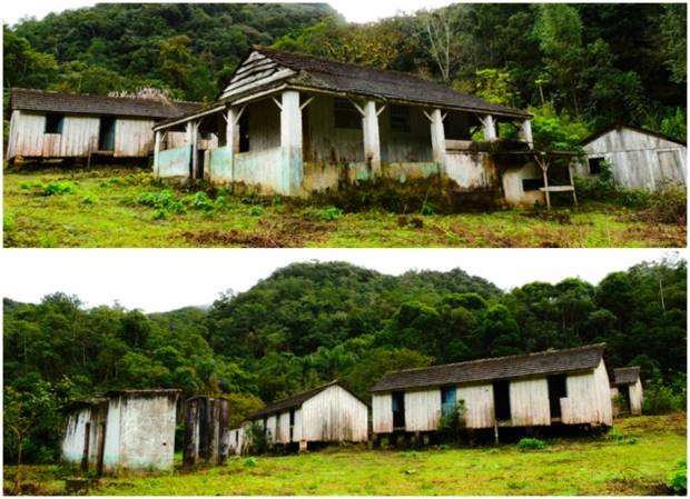 Vila de mineração abandonada. Uma vila fantasma em Iporanga.