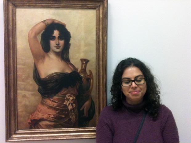 Então, fiquei na frente da leganda e a gente não se lembra o título desse quadro da Anita Malfatti.
