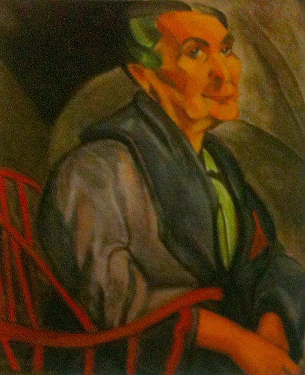 """Um Anita Malfatti clássico (""""Mulher de cabelos verdes""""), em contraste com um Anita de início de carreira."""