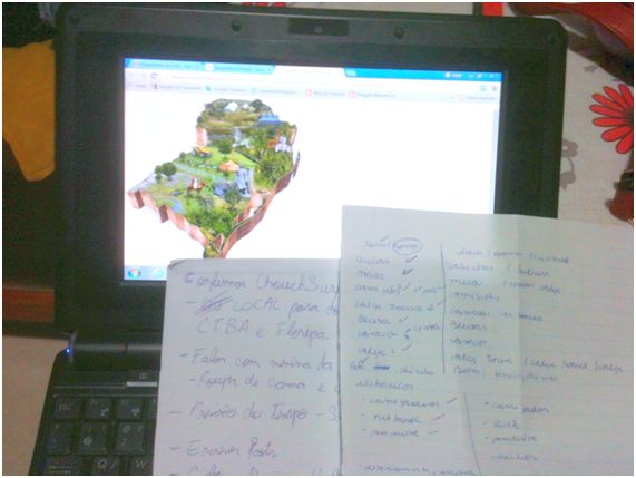 Listas e mais listas. Mapas, pesquisa e muito trabalho para o Planejamento de Viagem.