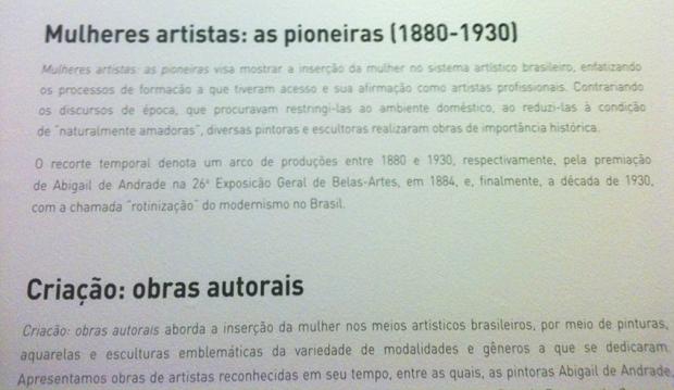 Sobre a exposição da Pinacoteca de São Paulo
