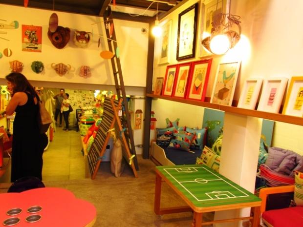As lojas participantes também eram bem artísticas.