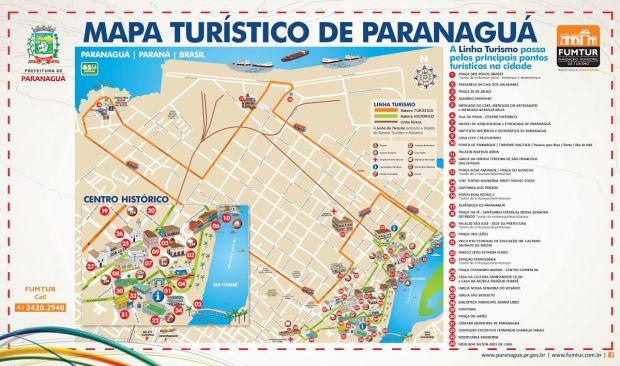 mapa_turistico de Paranaguá