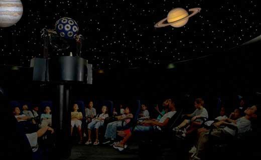 Sessão no Planetário