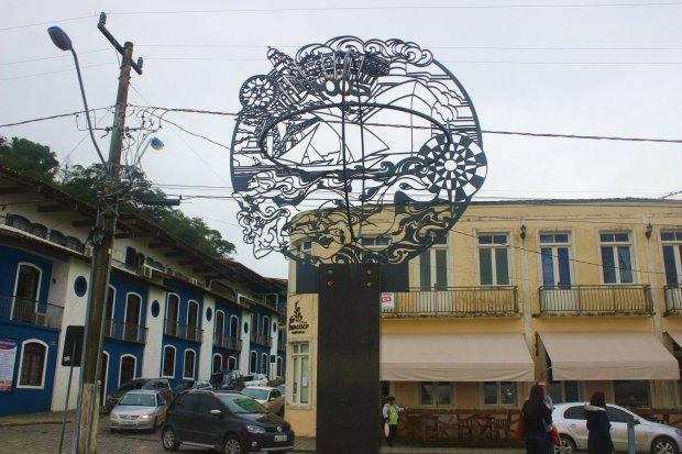 Esculturas enfeitam o já muito bonito porto de São Francisco do Sul.
