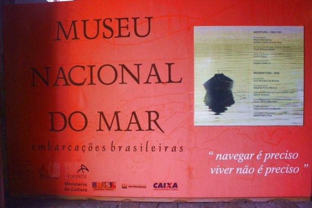 A frase lapidar de Luís de Camões combina perfeitamente com o Museu do Mar de São Francisco do Sul