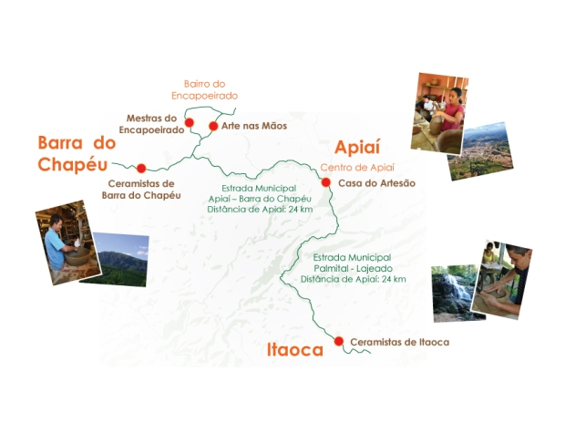 Mapa da Rota da Cerâmica – Ênfase na Casa do Artesão de Apiaí