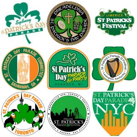 St Patrick's parade logos