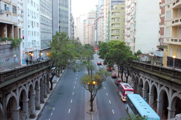 Viaduto Otavio Rocha Porto Alegre Bussola Quebrada