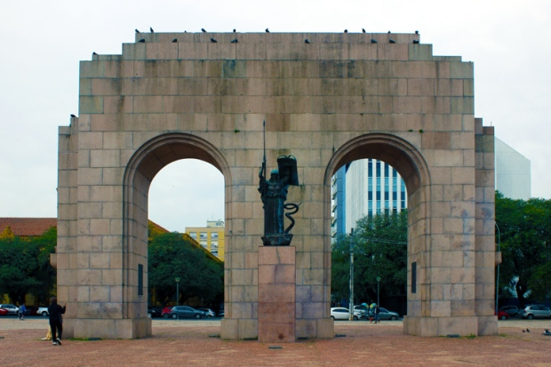 Monumento Expedicionarios Parque Farroupilha Redencao Porto Alegre Bussola Quebrada