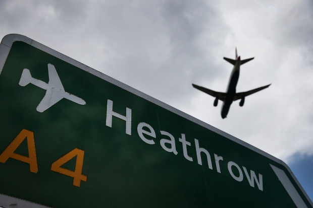 Aeroporto de Heathrow a bussola quebrada