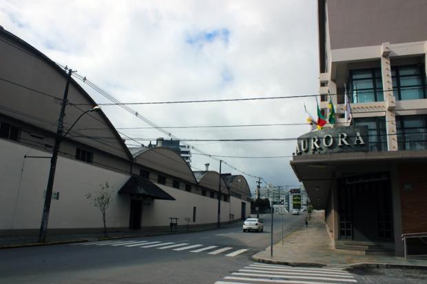 O complexo da Vinícola Aurora, em Bento Gonçalves. Administração e fábrica.