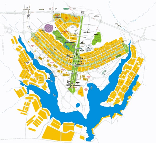mapa pontos turísticos de Brasília