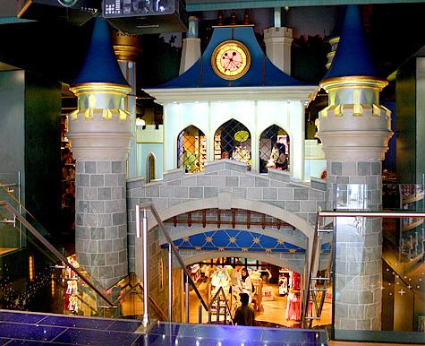 Castelo-subsolo loja disney
