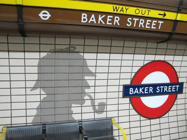detalhe metro baker street a bussola quebrada
