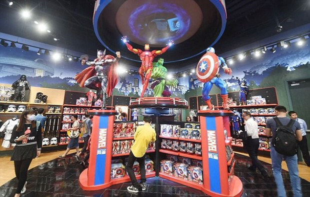 Marvel Disney Oxford Street a Bússola Quebrada