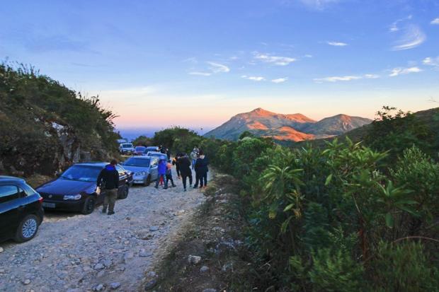 Entrada para o Parque do Itatiaia, onde está o Pico das Agulhas Negras, bem na tríplice fronteira, entre os estados de São Paulo, Rio de Janeiro e Minas Gerais.