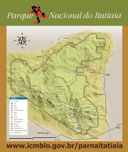 mapa parque nacional itatiaia a bussola quebrada