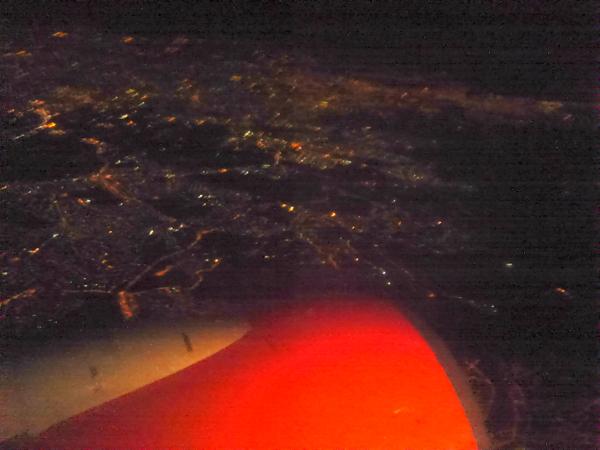 vista noturna voo- a bussola quebrada