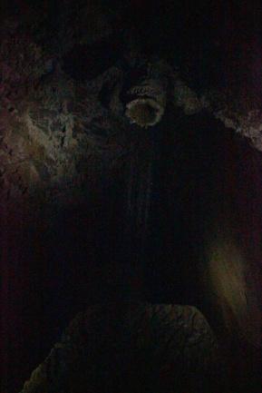 O Chuveiro natural dentro da Caverna Teminina.