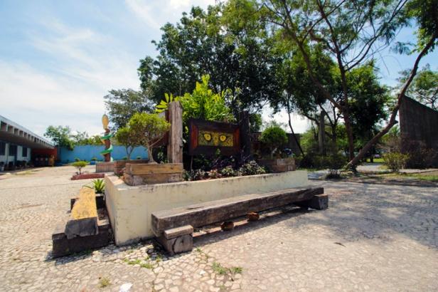 Criatividade e reciclagem embelezando ainda mais o Parque Ecológico do Tietê.
