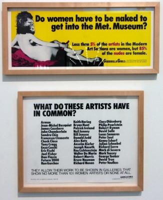 Na Tate Modern estava acontecendo uma exposição para a valorização das mulheres.