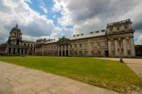Lado direito da Old Royal Naval College.