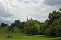 Chegando ao Observatório de Greenwich. Um castelo no alto da colina.