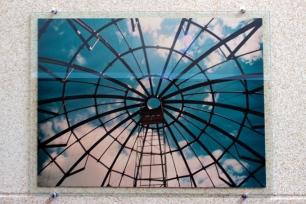 A construção da cúpula do Planetário do Carmo.