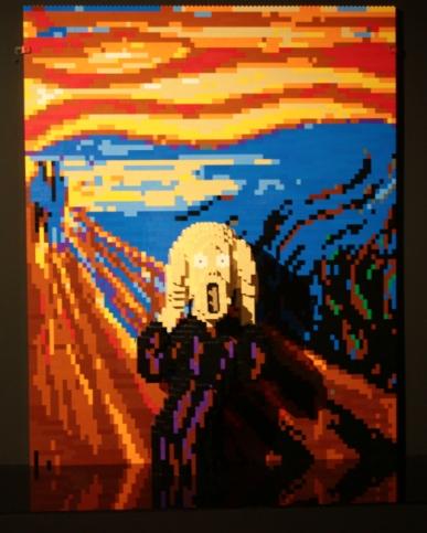 """Reprodução do quadro """"O Grito"""" de Ervard Munch."""