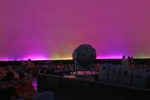 O pôr-do-sol em várias cores no Planetário do Carmo.