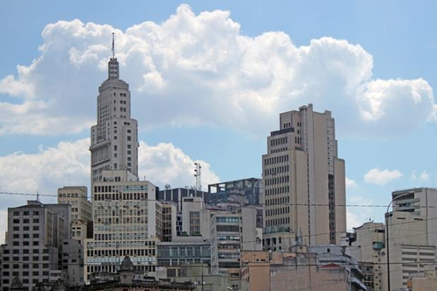 O Centro velho de São Paulo.